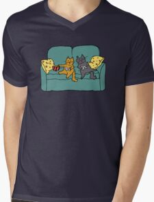Gamer Cats Mens V-Neck T-Shirt