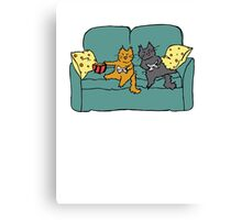 Gamer Cats Canvas Print