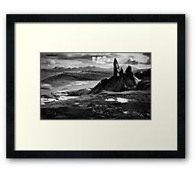 The Old Man of Storr (mono) Framed Print