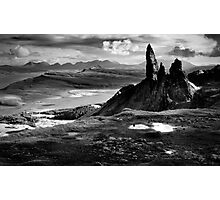 The Old Man of Storr (mono) Photographic Print