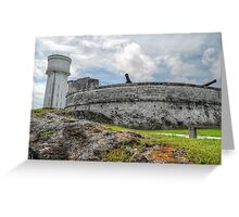 Historical Places of Nassau, The Bahamas: Fort Fincastle & The Water Tower Greeting Card