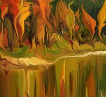 Autumn leaves ~ Abstract 28- wall art/ T-shirt  + IPhone Cases + iPad Cases+Throw Pillows+Bag by haya1812