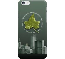 iPhone cover - Ivy leaf and Pittsburgh skyline GREEN iPhone Case/Skin