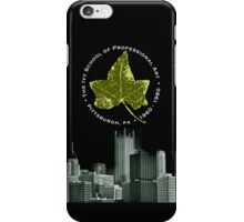 iPhone cover - Ivy leaf and Pittsburgh skyline BLACK iPhone Case/Skin