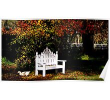 Duck The Autumn Leaves Are Falling Poster
