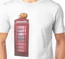 head on the phone Unisex T-Shirt