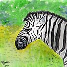 Zebra...one of my favs!  by Elizabeth Kendall