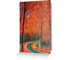 Beautiful colors of Autumn Greeting Card