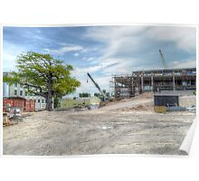 Construction of the new building at The Princess Margaret Hospital (PMH) in Nassau, The Bahamas Poster
