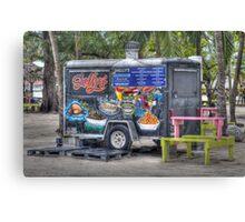 Shelly's snacks at Arawak Cay in Nassau, The Bahamas Canvas Print