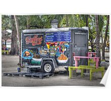 Shelly's snacks at Arawak Cay in Nassau, The Bahamas Poster