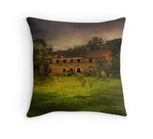 """The Old Mill"" Throw Pillow"