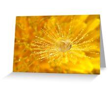 Golden Dandelion Drops Greeting Card