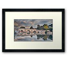 A BRIDGE OVER THE RIVER MEDWAY Framed Print