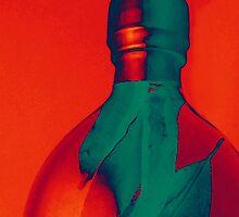 Fiery Orange Oil Bottle by SRowe Art