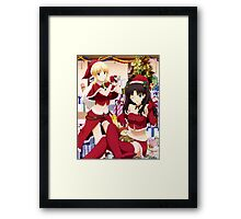Type-Moon - Fate Stay Night - Saber - Tohsaka Rin - Christmas Framed Print