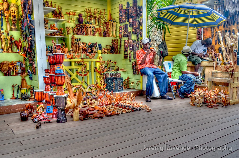 Craft Vendors at the Straw Market in Nassau, The Bahamas by Jeremy Lavender Photography
