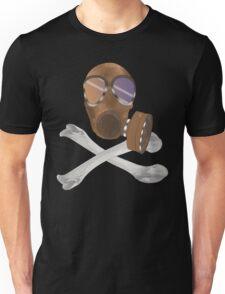 gas mask cross bones Unisex T-Shirt