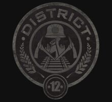 District 12 - Mining Seal Emblem Logo by metacortex