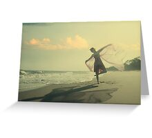 the girl and the sea Greeting Card