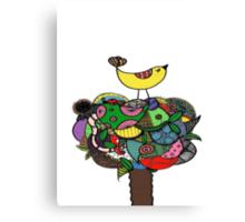 Doodle Throne (Colour) Canvas Print