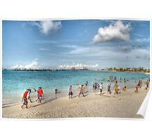The Beach at Arawak Cay in Nassau, The Bahamas Poster