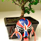 Bonsai and mask by Riten Aghera