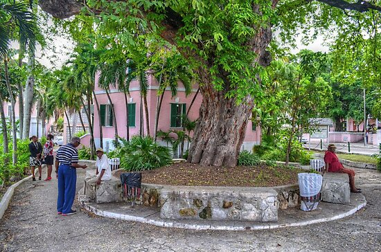Street Life around The Public Library in Downtown Nassau, The Bahamas by Jeremy Lavender Photography