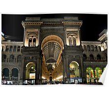 Milan Galleria Vittorio Emanuele Poster