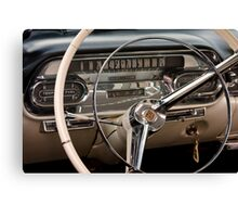 1958 Cadillac Dash Canvas Print