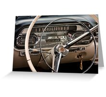 1958 Cadillac Dash Greeting Card