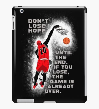 Slam Dunk Quote iPad Case/Skin