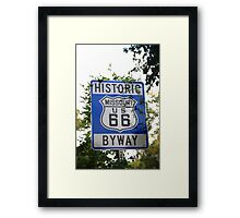 Route 66 Shield in Missouri Framed Print