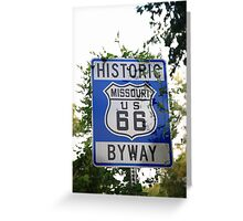 Route 66 Shield in Missouri Greeting Card