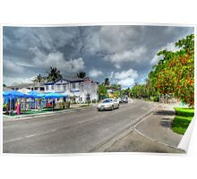 East Bay Street at Potter's Cay - Nassau, The Bahamas Poster