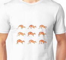 Red Kangaroo in Motion Unisex T-Shirt