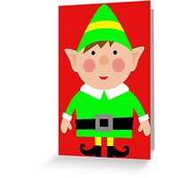 Mr green elf Greeting Card