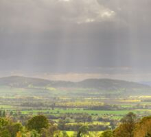 View over Buckland, Gloucestershire Sticker