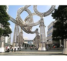 Yokohama metal sculpture Photographic Print