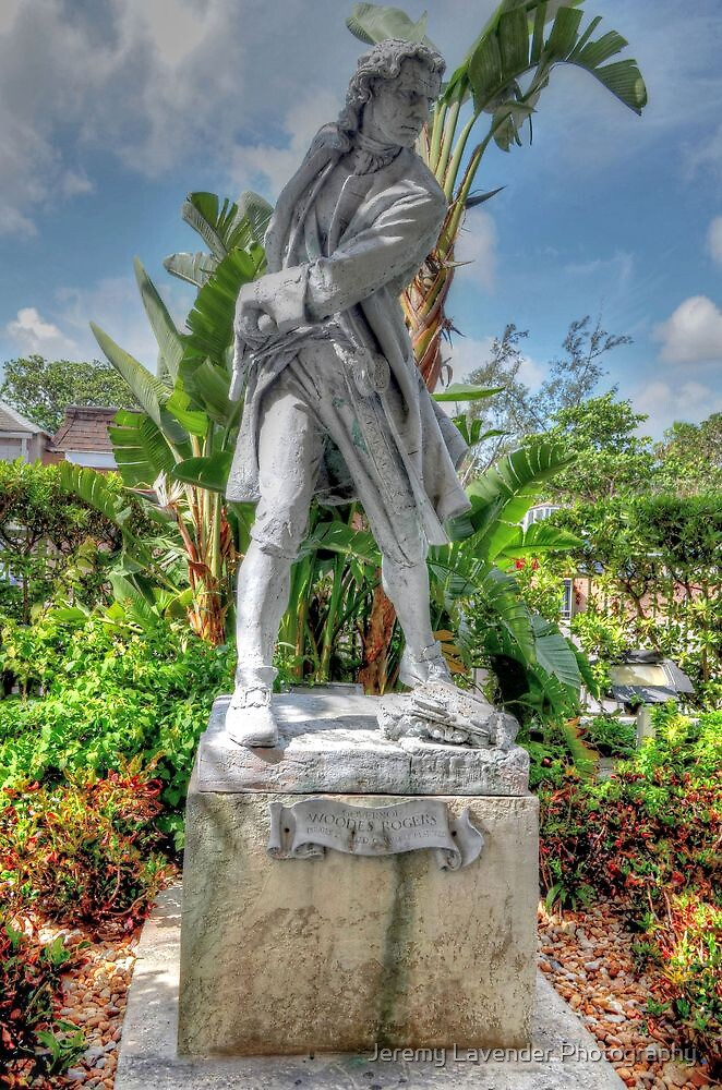 Governor Woodes Rogers Statue in Nassau, The Bahamas by Jeremy Lavender Photography