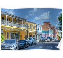 Market Street in Downtown Nassau, The Bahamas Poster