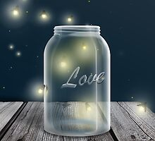Midnight Firefly Mason Jar by Starzraven