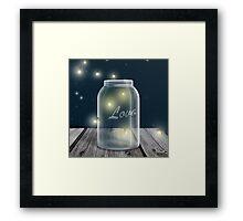 Midnight Firefly Mason Jar Framed Print