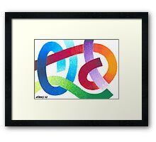 COLOUR FIGHT Framed Print