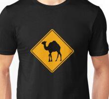 Camel road sign Unisex T-Shirt