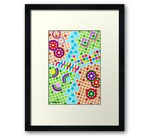 COLOR AND SHAPE WITH SQUARS 01 Framed Print