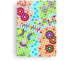 COLOR AND SHAPE WITH SQUARS 01 Canvas Print