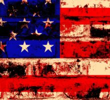 American Flag On Old Brick Wall Sticker