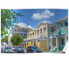 East Street in Downtown Nassau, The Bahamas Poster