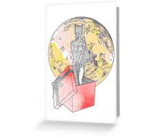 gifted wolf Greeting Card